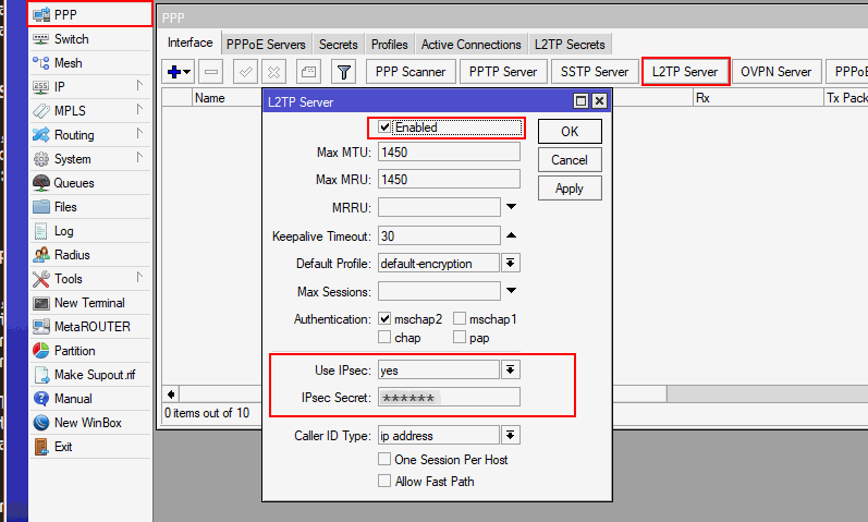 Mikrotik L2TP over IPSec troubleshooting - jcutrer com